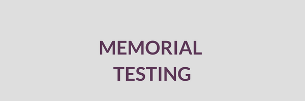 Cemetery Services Block Memorial Testing