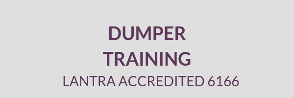 Cemetery Services Block Dumper Training Lantra