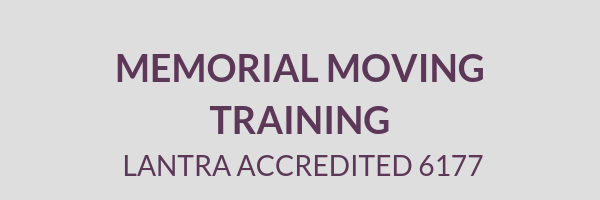 Cemetery Services Block Memorial Moving Training Lantra Approved